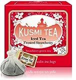 Strawberry Green Tea For Iced Tea - Box of 10 muslin tea bags - 3.17oz