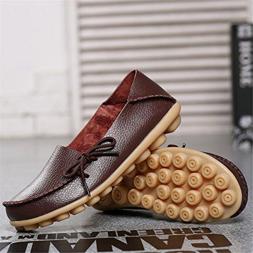 Un Kakifarbig cómodos de mujer gran de Moda de casual Sandalias mujer Zapatillas de mamá damas zapatos solo zapatos de número perezosos zapatos zapatos mujer calzado Sandalias x6qaY4