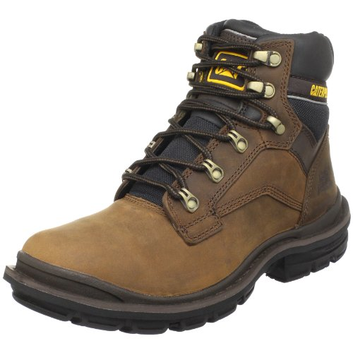 Caterpillar Men's Generator 6 Inch Soft Toe Work Boot, Dark Brown, 7.5 M US