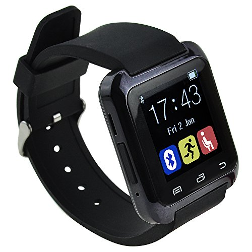 Smart Wrist Wrap Watch Phone Smart Watch for Android Samsung Bluetooth 4.0 for Smartphones Android Samsung Galaxy S3S4S5 S6 S6 edge Note 2Note 3 Note 4 HTC Sony (Black)