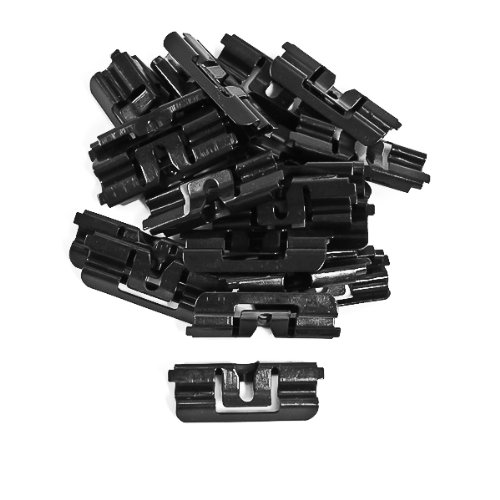 Mustang Rear Window Molding - 1979-1993 Ford Mustang Hatchback Rear Window Moulding Clips; 22pc. Replacement Hardware
