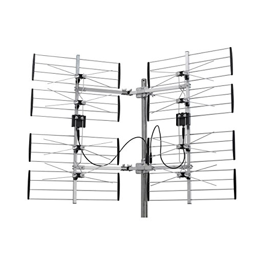 Digiwave Adjustable Multidirectional HDTV Antenna - ANT7287, Silver