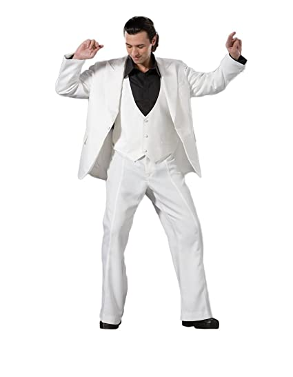 70s Costumes: Disco Costumes, Hippie Outfits Mens Saturday Night Fever Disco Costume $299.99 AT vintagedancer.com