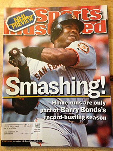 2001 Barry Bonds - SPORTS ILLUSTRATED OCT 8, 2001 BARRY BONDS GIANTS EX