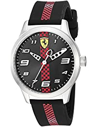 Boys Pitlane Quartz Stainless Steel and Silicone Casual Watch, Color:Black (