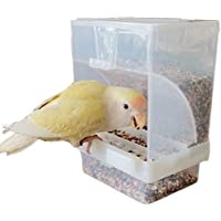 Automatic Bird Feeder Stations Acrylic Plastic Large Capacity Food Container Box No-Mess Automatic Feed Box Starling…