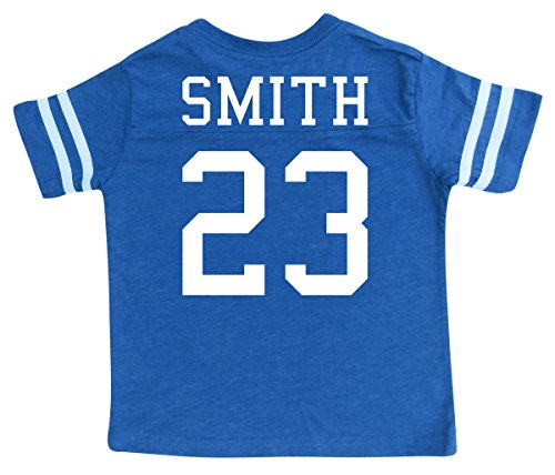 Custom Football Sport Jersey Toddler & Child Personalized with Name and Number (6/8 (Small), Vintage Royal) -