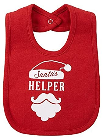 47caf9baf Image Unavailable. Image not available for. Color: Carters Christmas  Santa's Helper Teething Bib ...