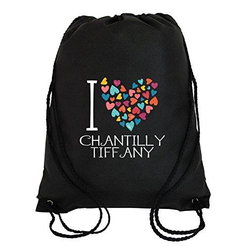 Idakoos - I love Chantilly Tiffany colorful hearts - Cats - Sport Bag (Tiffany Heart Bag)