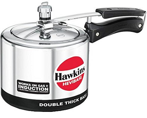 Hawkins Hevibase IH30 3-Litre Induction Pressure Cooker, Small, Silver by Hawkins Hevibase