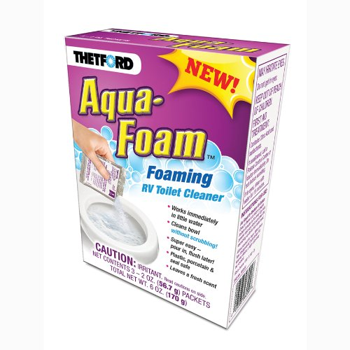 Thetford Aqua-Foam - Cleaner for Porcelain and Plastic Toilets - 3x2 oz Pack ()