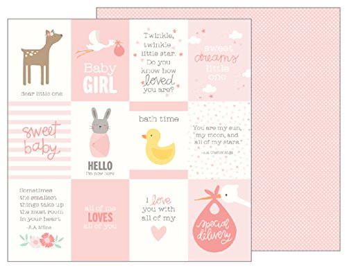 American Crafts 733505 Baby Girl Quotes 25 Pack of 12 X 12