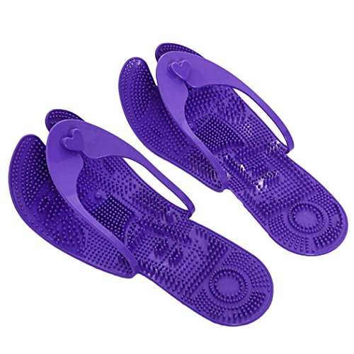 Purple Sandals Massage Indoor Unisex Slippers Slippers Beach Bathroom Foldable Flops Flip Portable Dark L Zoylink pBOwIB