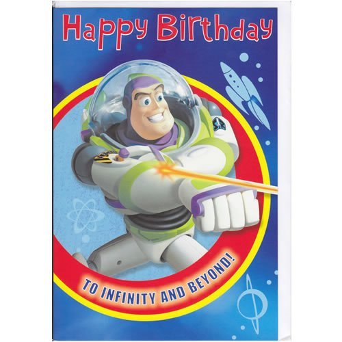 Disney Pixar Toy Story Buzz Lightyear Happy Birthday Card – Buzz Lightyear Birthday Card