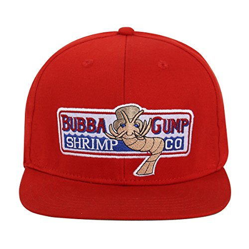 WYKBPX Adjustable Bubba Gump Baseball Cap Shrimp Co. Embroidered Hat (Red) (Flat Brimmed)