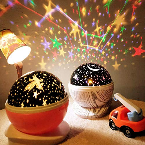 DARK Seller Altriga USB Wire Colourful Romantic LED Star Master Starry Night Projector Bed Light Lamp Night Light Projector Children Kids Baby Sleep (Multicolour)