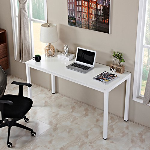 Simple Modern Office Desk Portable Computer Desk Home: Auxley Computer 55 Inch Modern Simple Writing Desk For