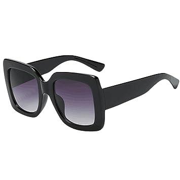 LILICAT_Gafas Gafas Mujer, Sol Cuadradas de Gran Tamaño con Gradiente Degradado Sol de Rectangulares Retro Vintage 2018 Regalos Moda Gafas para ...