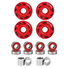 52mm Blank Skateboard Wheels/ ABEC-9 Speed Bearings& Spacers