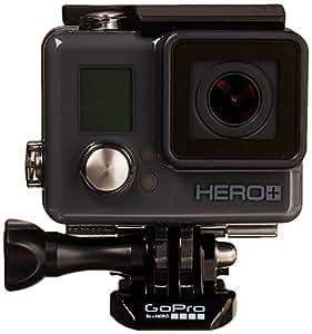 GoPro HERO+ LCD - Videocámara deportiva LCD (pantalla táctil integrada + altavoz, impermeable hasta 40 m)