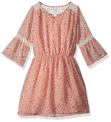 The Children's Place Big Girls' Long Sleeve Casual Dresses, Cherry Ice 85115, XXL(16)
