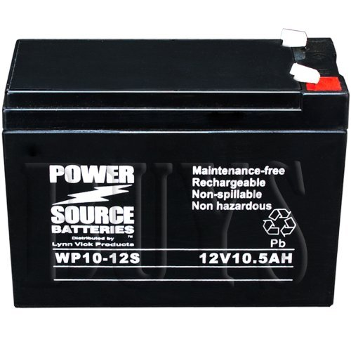 109101-77300-10P, 109101-77301-10L, TPH12100, BP10-12, EV12100, ES10-12S, PS-12100H Replacement Battery 12v 10ah WP10-12S Sealed AGM for Shoprider, Pihsiang, GS Portalac, BB, CSB, MK, Power Sonic Mobility Scooter