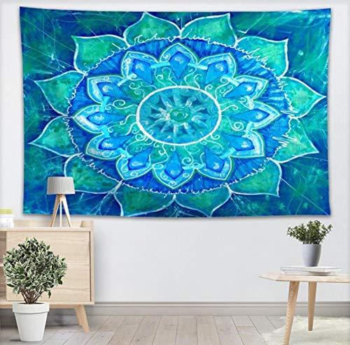 YUYINGXIANG Textura Azul Mandala Tapiz Tapices Colgantes de ...