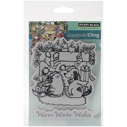 """Penny Black Cling Rubber Stamp 5""""X7.5"""" Sheet-Warm Wishes"""