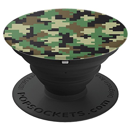 (Modern Military Camouflage Print - PopSockets Grip and Stand for Phones and Tablets )