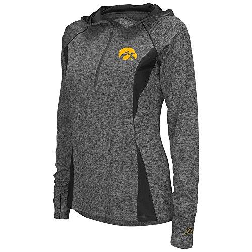 Womens Iowa Hawkeyes Quarter Zip Wind Shirt - (Iowa Womens Hoody Zip Sweatshirt)