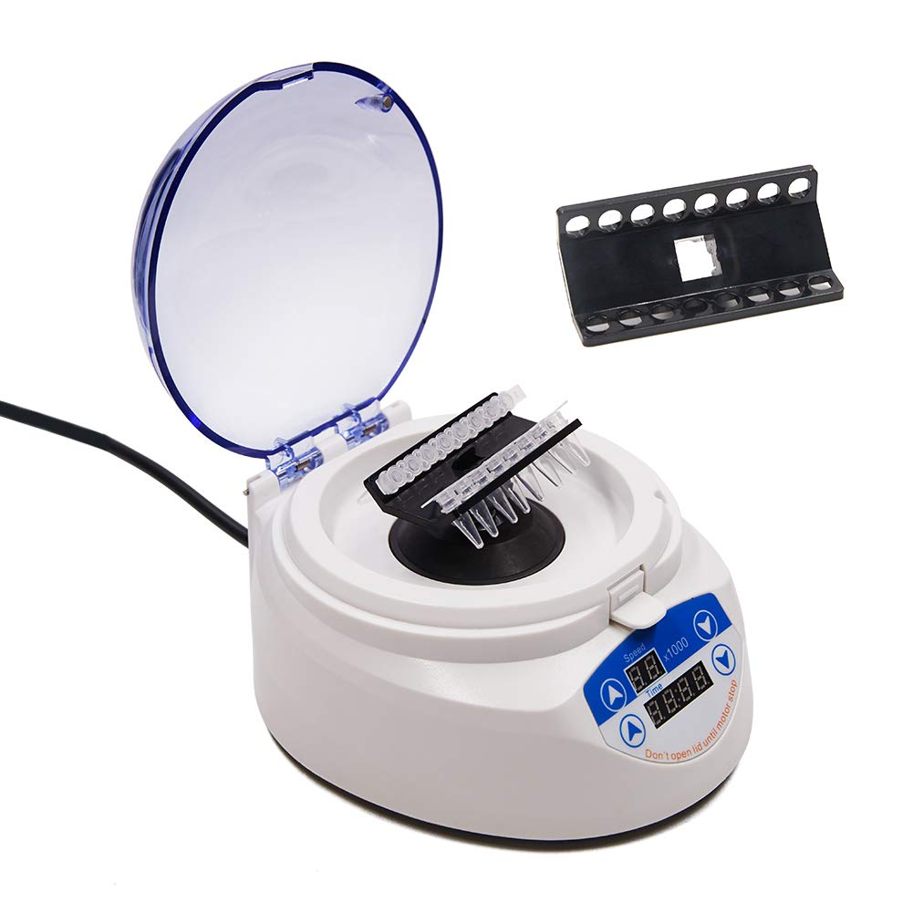 Wellish Mini-7KS Desktop Centrifuge Ultracentrifuge Variable Speed 4000RPM,6000RPM, 7000RPM 2 Rotors Lab Benchtop Microcentrifuge by Wellish