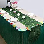 niceeshop-Artificial-Palm-Leaves-Decorations-TM-12pcs-Tropical-Fake-Jungle-Leaves-Silk-Fabric-Turtle-Leaves-for-Hawaiian-Luau-Party-Wedding-Holiday-Decoration-Large-Green