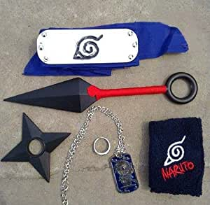 Amazon.com: Topbill Naruto Weapons Kunai Sword Headband Necklace of Cosplay 6 PCS: Toys \u0026 Games