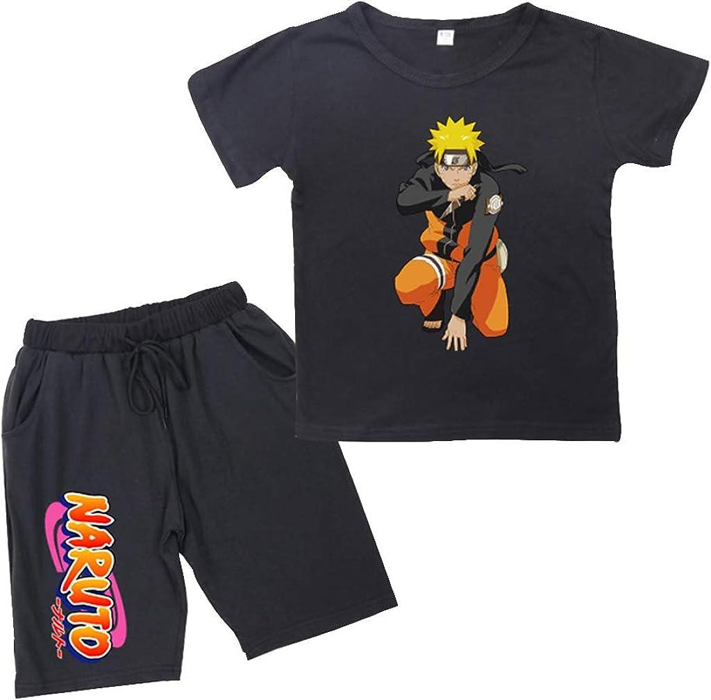 KIACIYA Conjuntos de Top y Pantalones Naruto, Conjunto Deportivo Camiseta y Pantalón Naruto Chica, Conjunto Tops y Pantalones Cortos, Casual Chándal para Niñas y Niño: Amazon.es: Ropa y accesorios