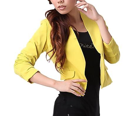 Blazer Chaqueta De Traje Mujer Chaquetas Elegantes Chic Abrigos Primavera Moda Casual Oficina Negocios Ejecutiva Outwear Manga Larga Color Sólido: ...