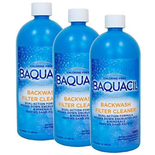 - Baquacil Backwash Filter Cleaner (1 qt) (3 Pack)