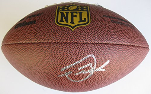 Devontae Booker, Denver Broncos, Utah, Signed, Autographed, NFL Duke Football, a Coa with the Proof Photo of Devontae Signing Will Be Included with the Football