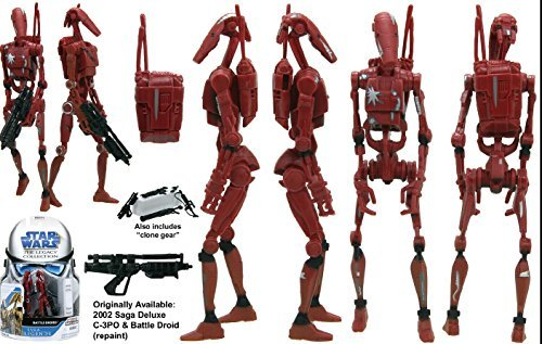 Battle Droids Saga Legacy Collection Star Wars Action Figure (style and colors may vary) (Star Wars Dc 15 Blaster Rifle Toy)