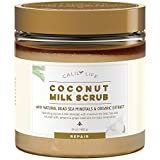 Calily Life Organic Coconut Milk Scrub with Dead Sea Minerals, 24 Oz. - Deep Moisturizing and Nourishment - Exfoliates, Clears Eczema, Removes Wrinkles, Gets Skin Vibrant and Revitalized