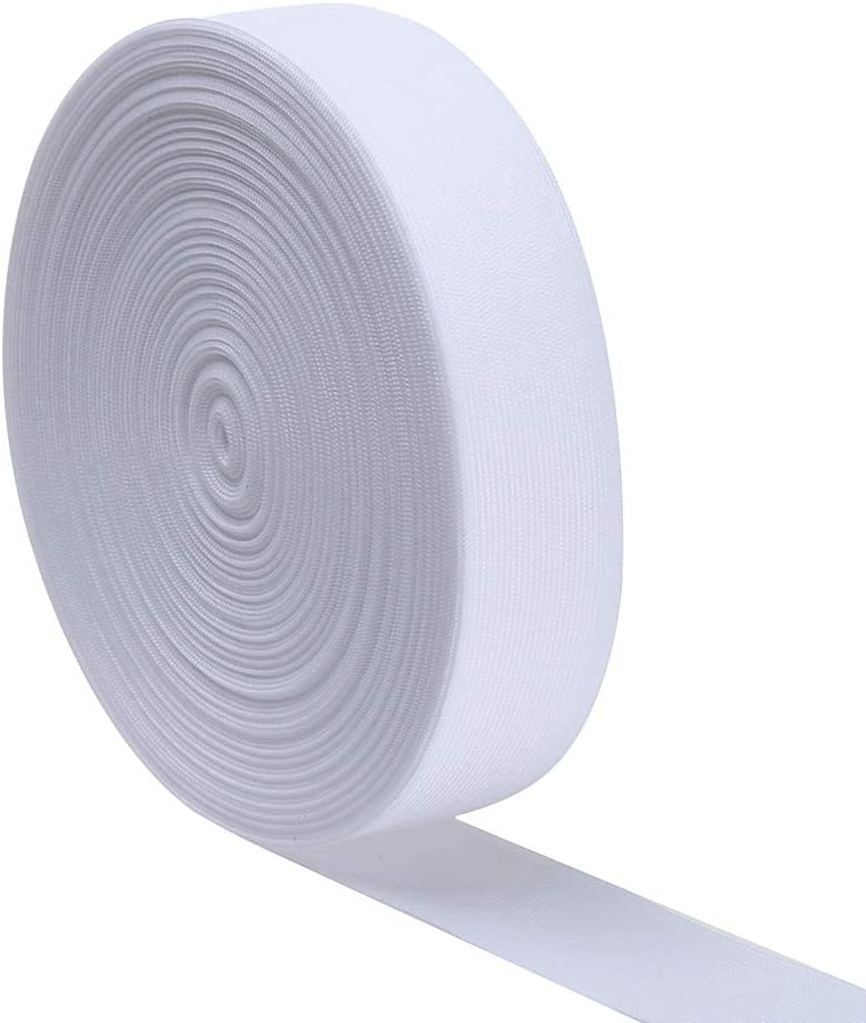 12 Yard White, 3//4 Inch Ninepeak High Elasticity Sewing Elastic Band