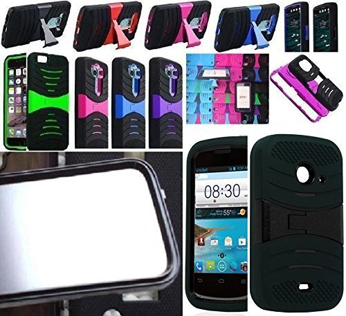 N SCREEN GUARD PROTECTOR Faceplate Phone Cover Case For ZTE Prelude 2 / ZTE Salem / ZTE Whirl 2 / ZTE Zinger / Z667T Z667G Z667 (USA Seller) (uBLUE/BLACK) ()