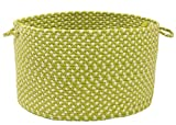 Colonial Mills All-Weather Indoor/Outdoor Storage Basket, Lime Twist