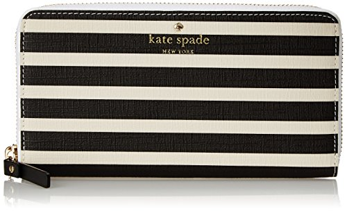 kate spade new york Fairmount Square Lacey Wallet, Black/Sandy Beach, One Size