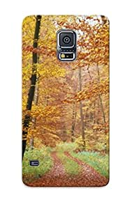 Case For Galaxy S5 Tpu Phone Case Cover(forest Road ) For Thanksgiving Day's Gift