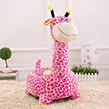 V&K Child Sofa Chair,Plush Giraffe Kids Couch Soft Relax Armrest for Gaming Living Room-A 504580cm