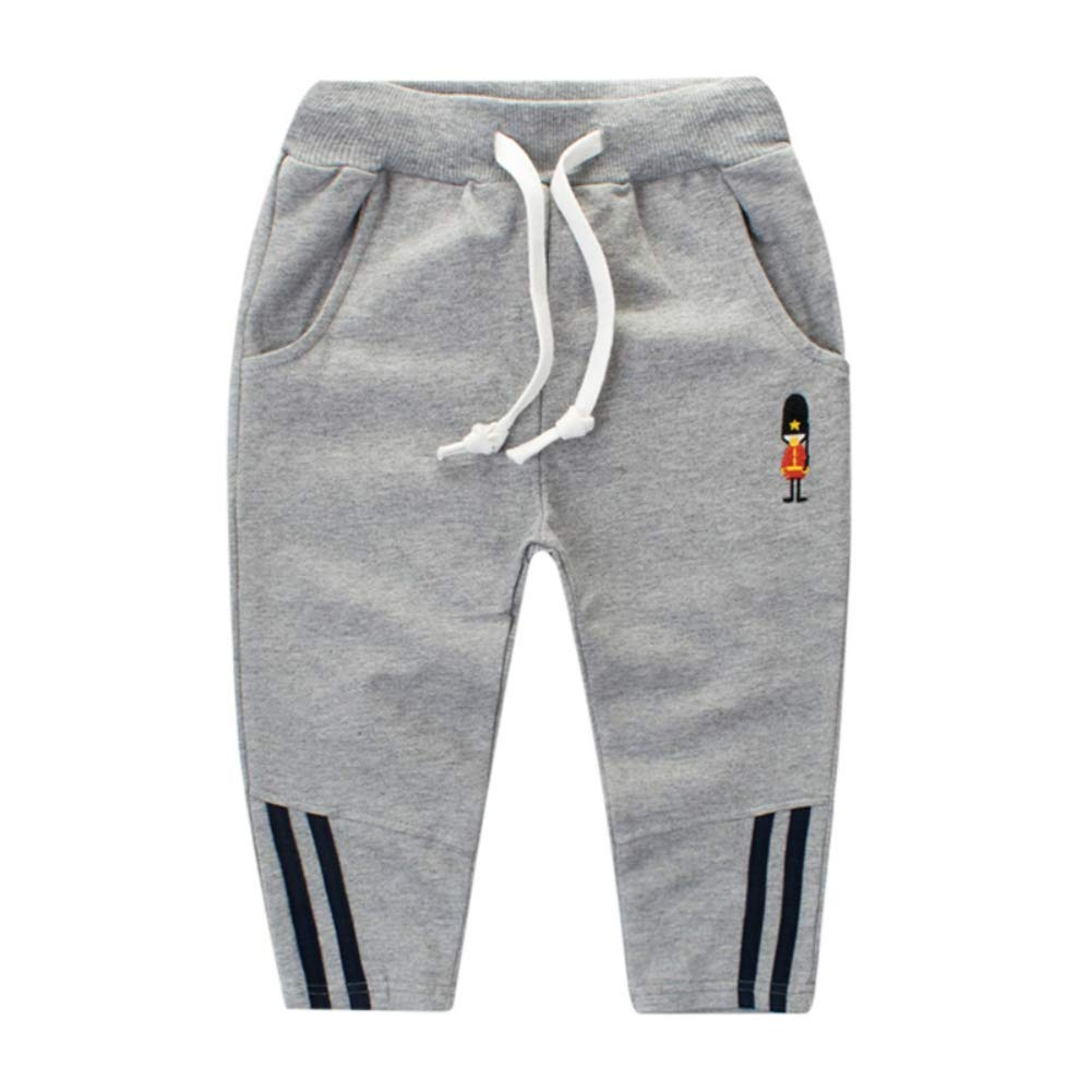 BOBORA Toddler Boys Kids Elastic Waist Gym Sports Bottoms Jog Pants Children Sweatpants BO-UK874