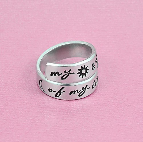 Amazoncom My Sun And Stars Moon Of My Life Ring Hand Stamped