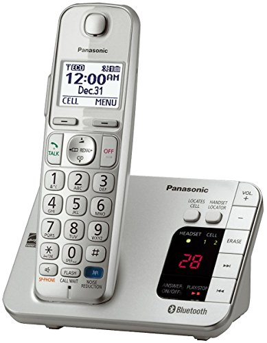 - Panasonic KX-TGE260S Link2Cell Bluetooth Enabled 1 Handset Cordless Phone with Answering Machine, Silver (Renewed) - KX-TGE262S & KX-TGE263S Base-Station