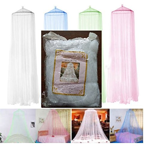 S.P.S Elegant Round Curtain Bed Mesh Canopy Netting Mosquito Net for Twin Bed Only (White)