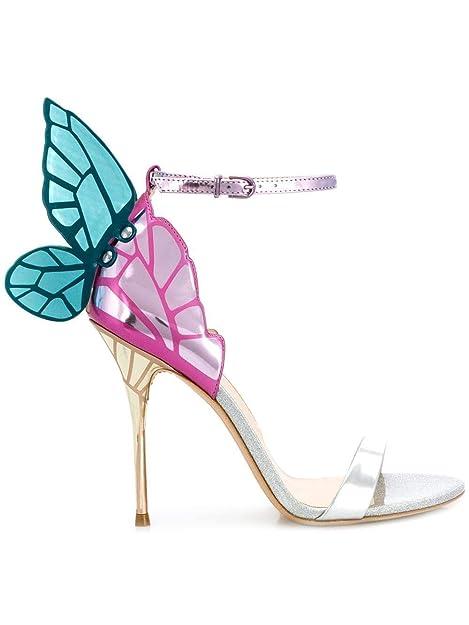 huge discount 38496 2844f SOPHIA WEBSTER Sandali Donna Sps19039 Pelle Argento/Rosa ...